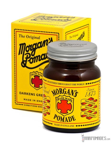 Morgan's Hair Darkening Pomade Amber in glazen pot