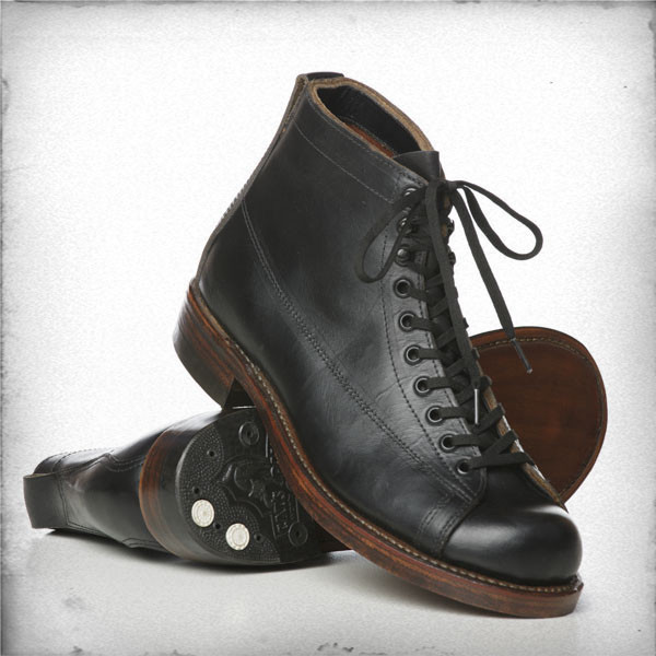 Rising Sun & Co Linesman Boot - Horween Leather, Black & Brown