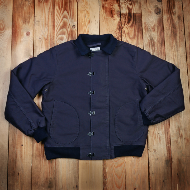 1943 Deck Hook Jacket Dark Blue, Pike Brothers - restant