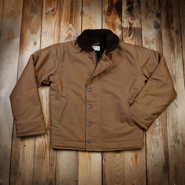 1944 N1 Deck Jacket Waxed Khaki Pike Brothers