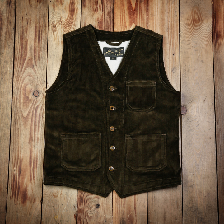 1937 Roamer Vest Cord  (Corduroy) Brown (Bruin) Pike Brothers
