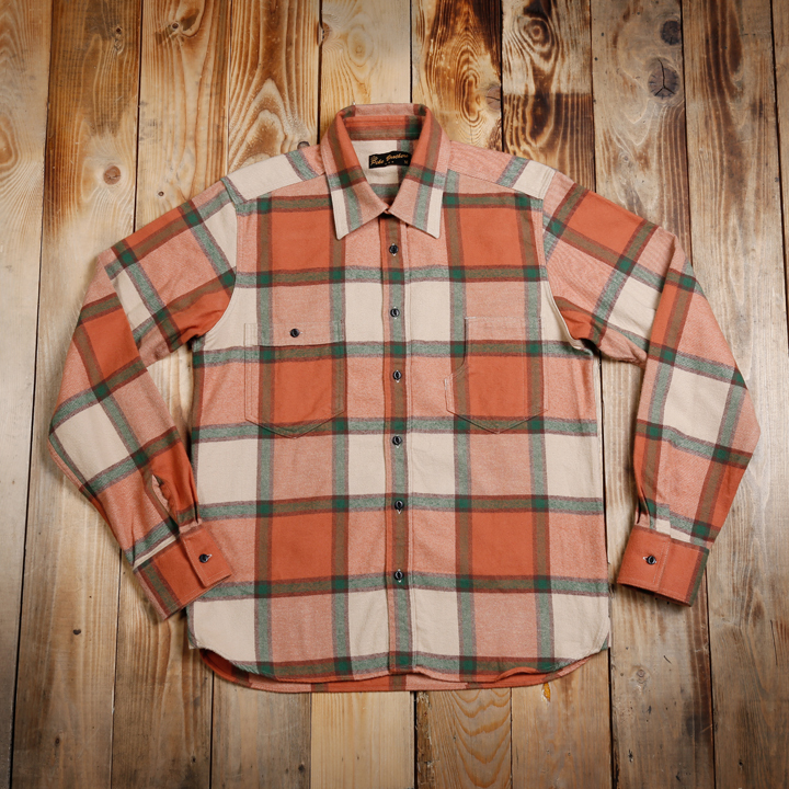 1937 Roamer Shirt Flannel Orange Pike Brothers