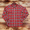 1937 Roamer Shirt Flannel Red Blue  Pike Brothers