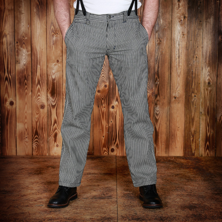 1942 Hunting Pant 12OZ Hickory Stripe Pike Brothers