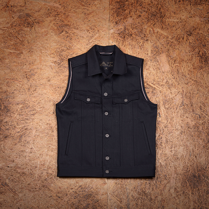 1963 Roamer Vest 13Oz Pitch Black Pike Brothers