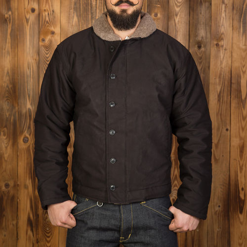 1944 N1 Deck Jacket Faded Black Pike Brothers