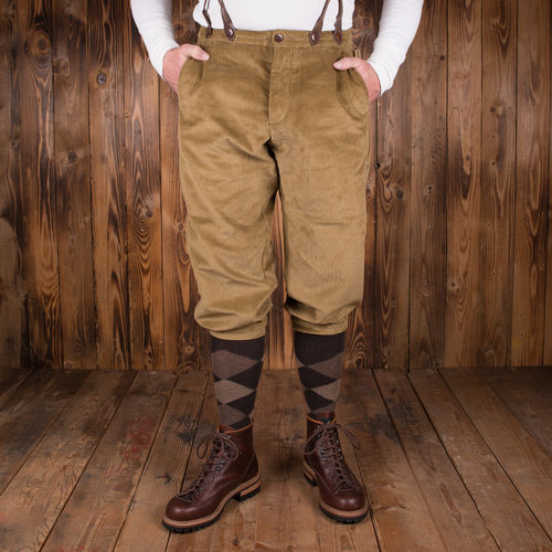1927 golfer pant heavy cord sand Pike Brothers - restant