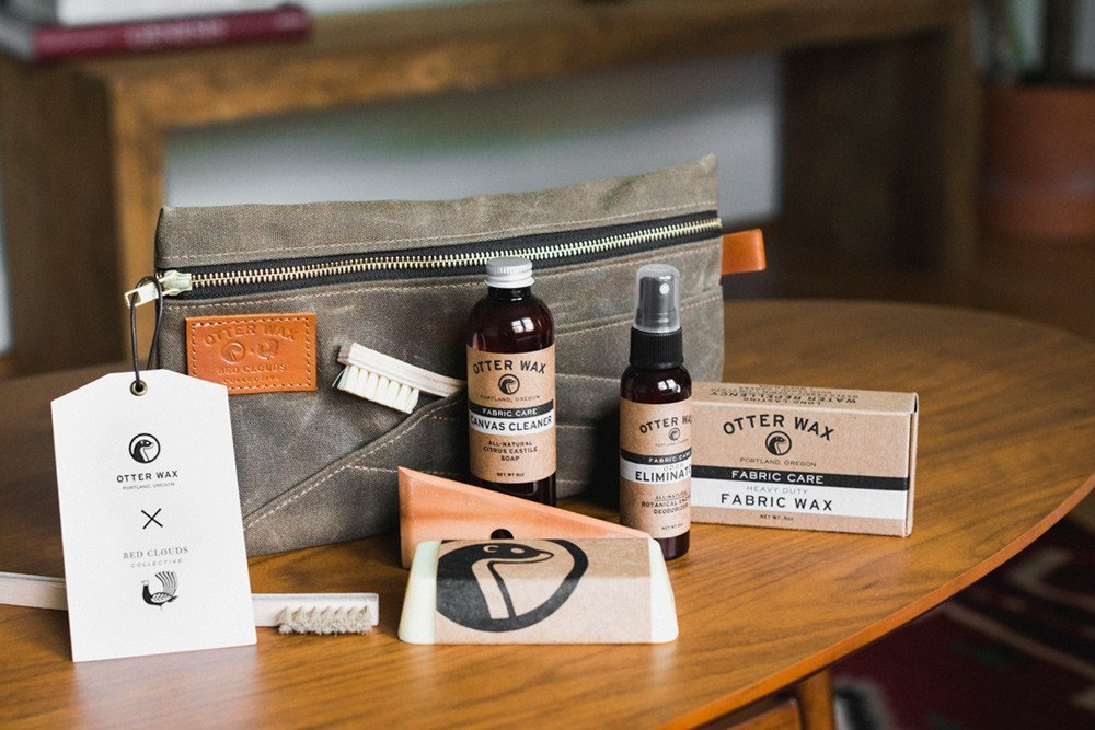 Otter Wax + Red Cloud Collective wax canvas care kit