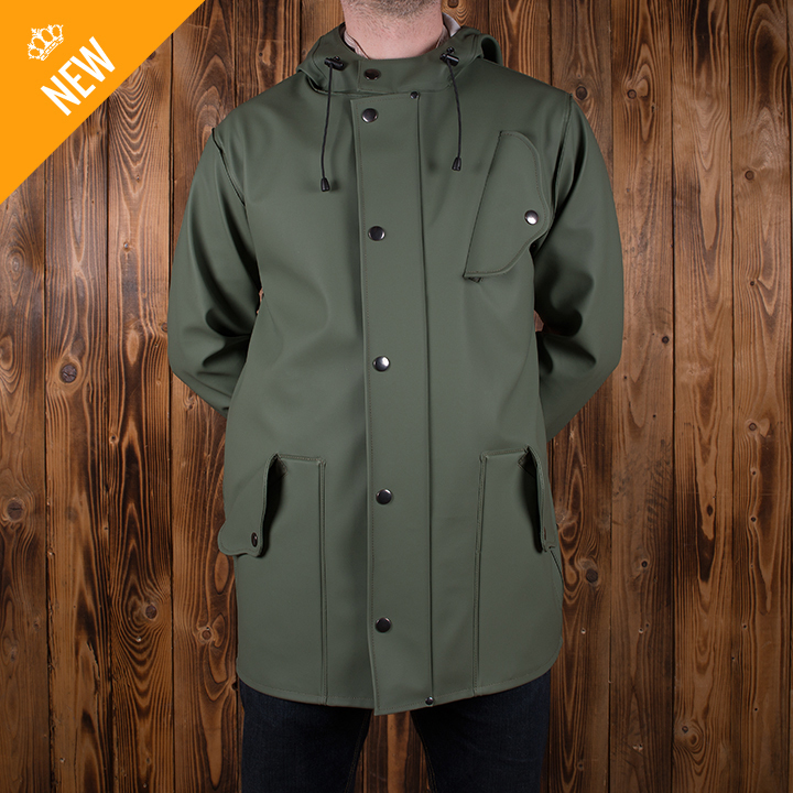 1953 fishermans coat green Pike Brothers