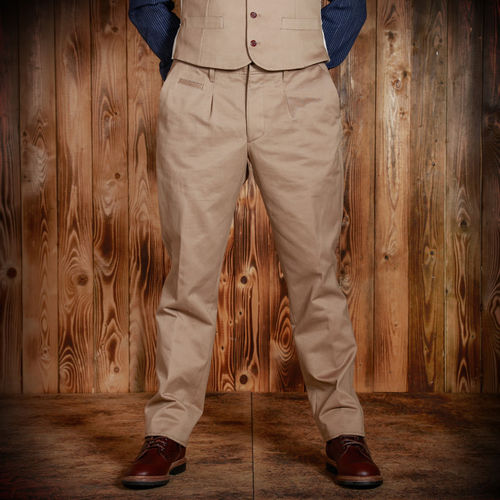 1923 Buccaneer pant cav. twill beige Pike Brothers
