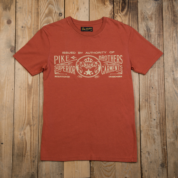1964 Sports Tee Elephant rusty red Pike Brothers EXTRA KORTING