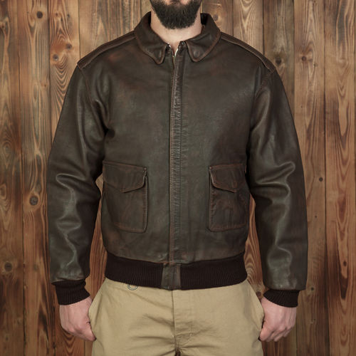 1938 A2 Flight Jacket russet brown Pike Brothers