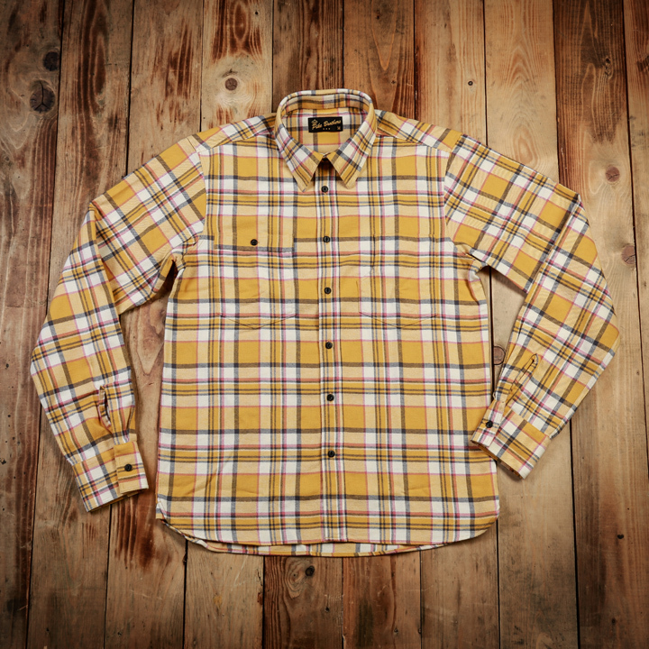 1937 Roamer Shirt yellow flannel  Pike Brothers- restant