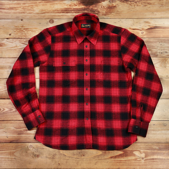 1937 Roamer Shirt red check Pike Brothers- ook grote maten