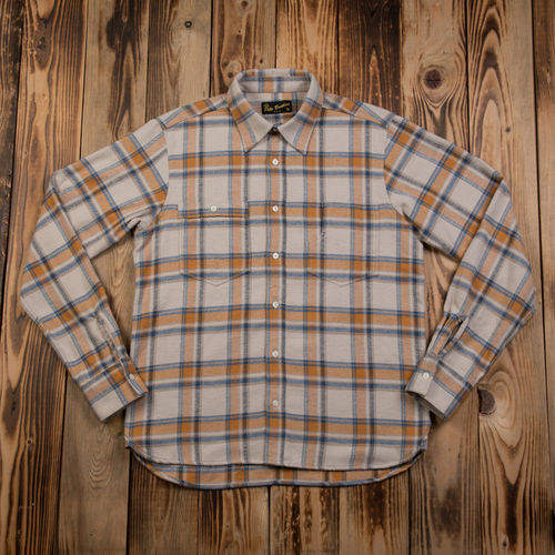1937 Roamer Shirt navy yellow flannel Pike Brothers