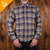 1937 Roamer Shirt dark blue flannel Pike Brothers