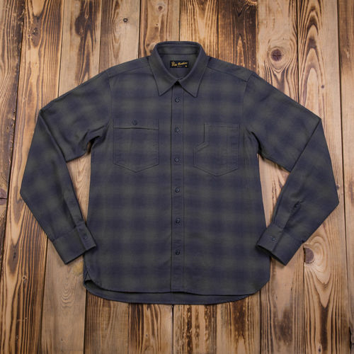 1937 Roamer Shirt oliv check Pike Brothers