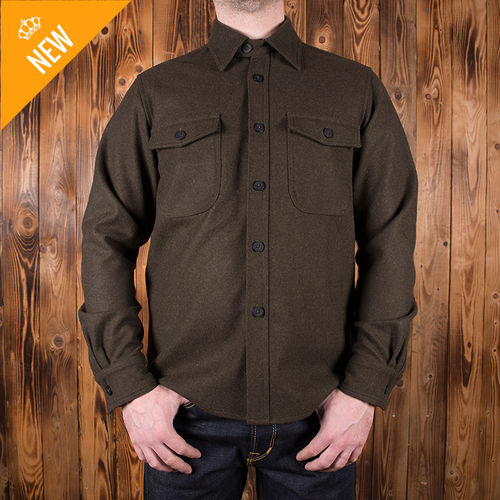 1943 CPO Shirt oliv wool Pike Brothers
