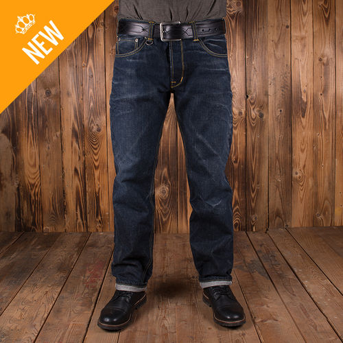 1958 Roamer Pant 15oz indigo 104 rinse Pike Brothers - speciale editie