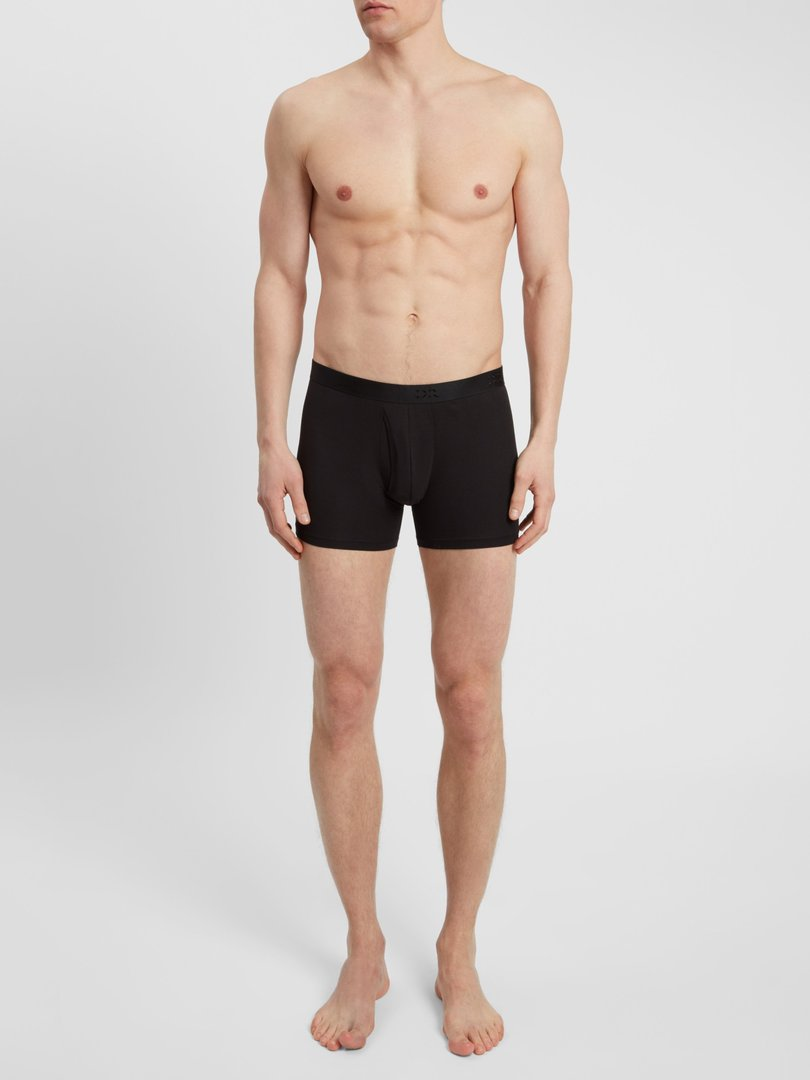 Men's Trunks Jack Pima Cotton Stretch Black Derek Rose
