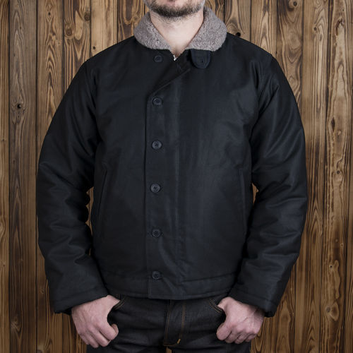 1944 N1 Deck Jacket waxed navy Pike Brothers