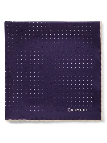 Navy and white polka dot pocket square, Crombie