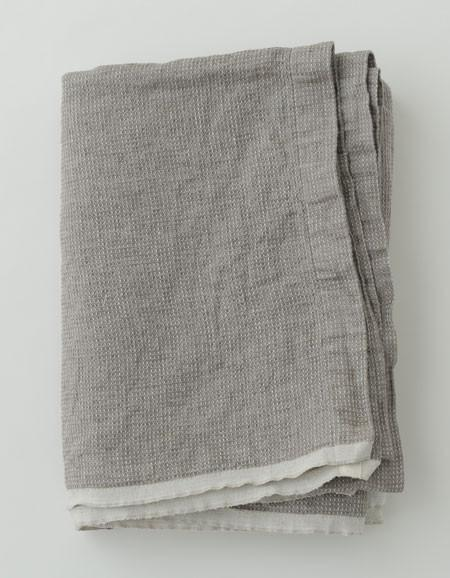 fog linen work 100% washed waffle linen bed cover