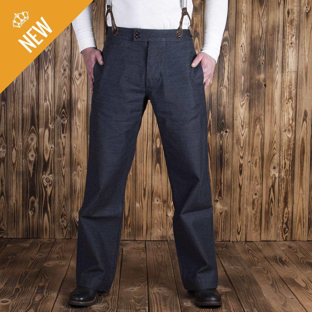 1942 Hunting Pant Steel blue denim, Pike Brothers