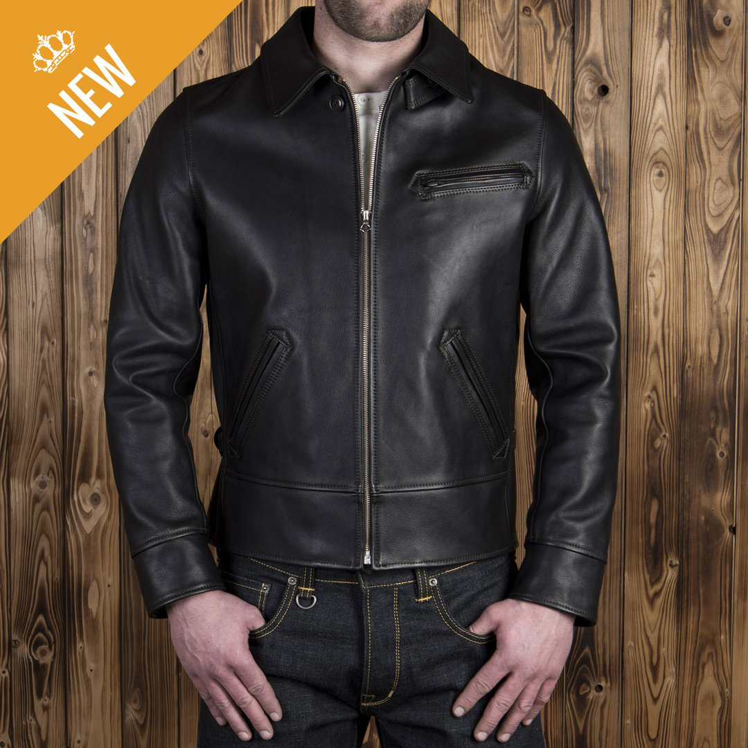 1932 Roadster Jacket black leather, Pike Brothers