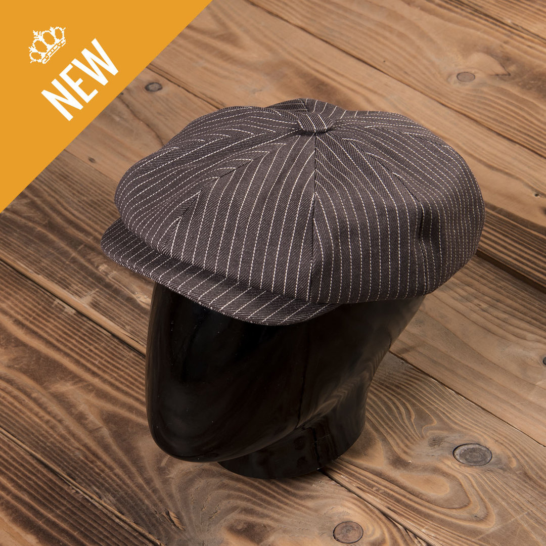 1928 Newsboy Cap brown wabash, Pike Brothers
