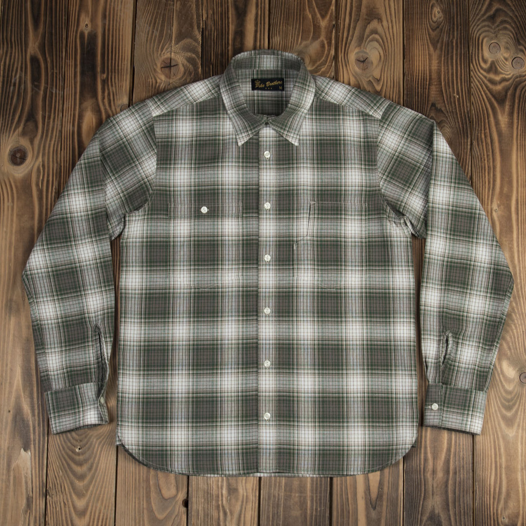 1937 Roamer Shirt Pioneer green check, Pike Brothers