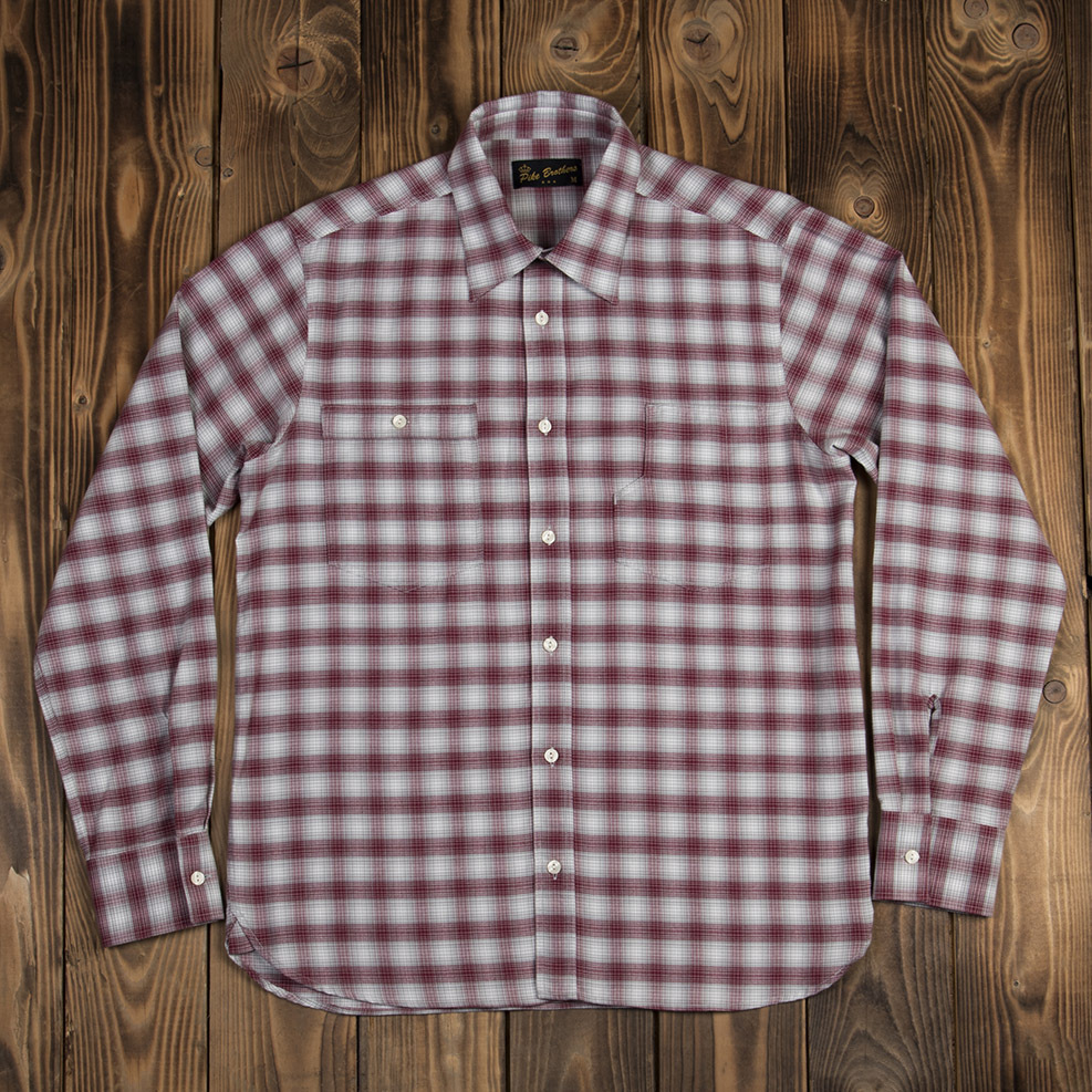 1937 Roamer Shirt Pioneer red check, Pike Brothers