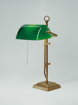 Bankierslamp Berliner Messing