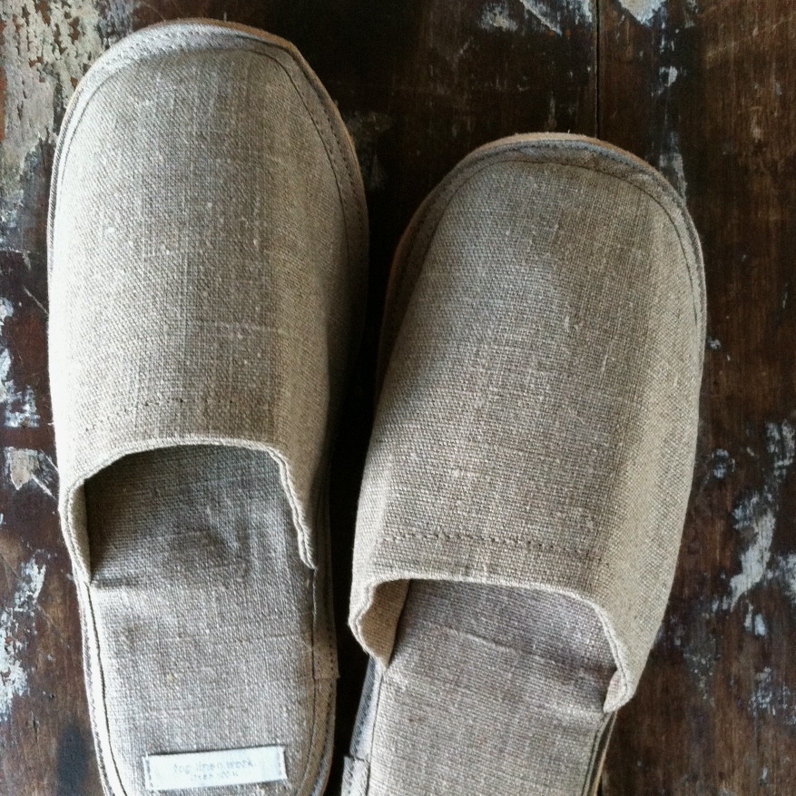 Fog Linen Linnen Slippers Naturel