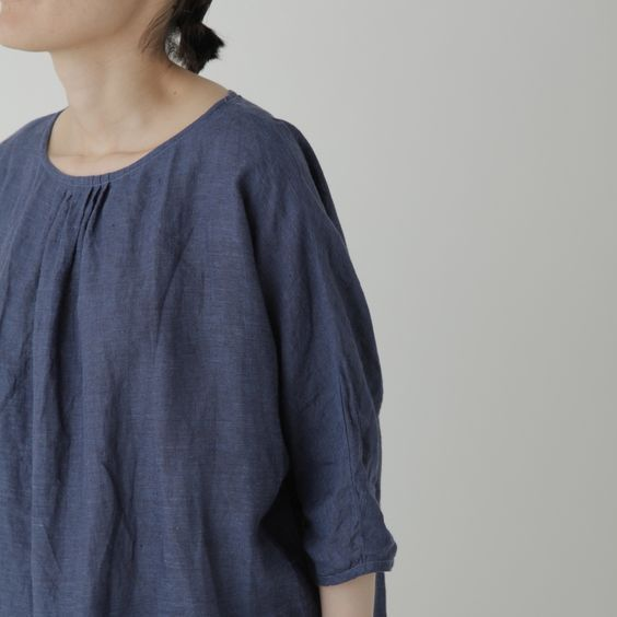 Fog Linen 'Severine' tuniek ' blue de chine'