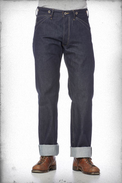 Rising Sun & Co Blacksmith Jeans, Indigo Raw - laatste exemplaren