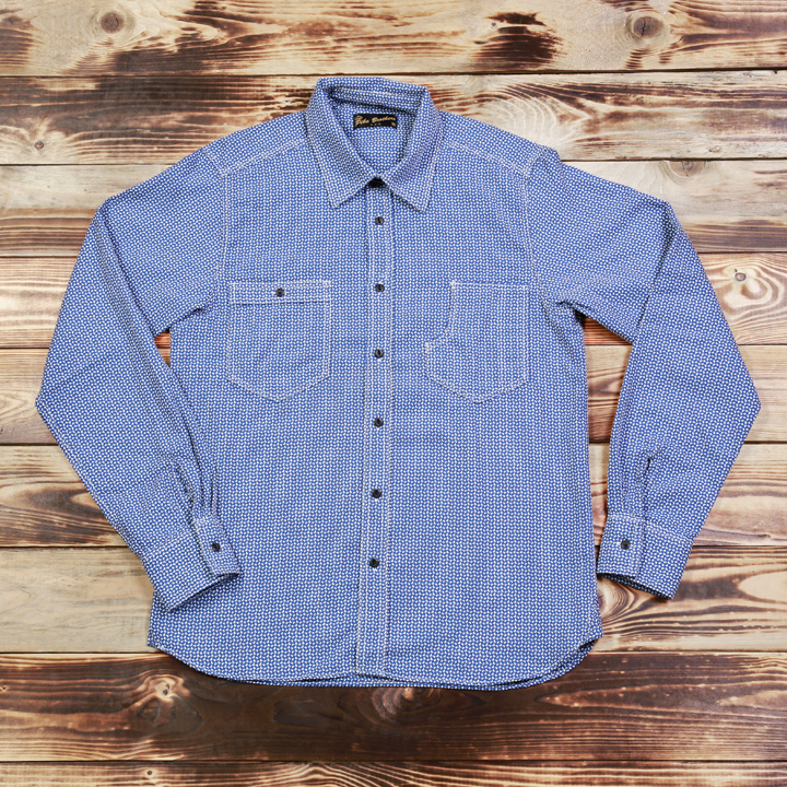 1937 Roamer Shirt Mohawk Check Blue Pike Brothers - extra korting -laatste exemplaren - op is op