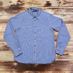 1937 Roamer Shirt Mohawk Check Blue Pike Brothers - deadstock