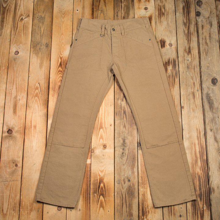 1946 Lumber Pant 10Oz Khaki Canvas Pike Brothers - restant