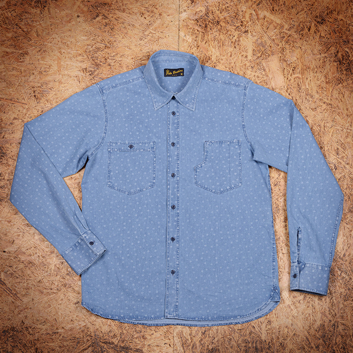 1937 roamer shirt blue stifl Pike Brothers - deadstock