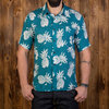 1937 Roamer Shirt short sleeve blue pineapple Pike Brothers
