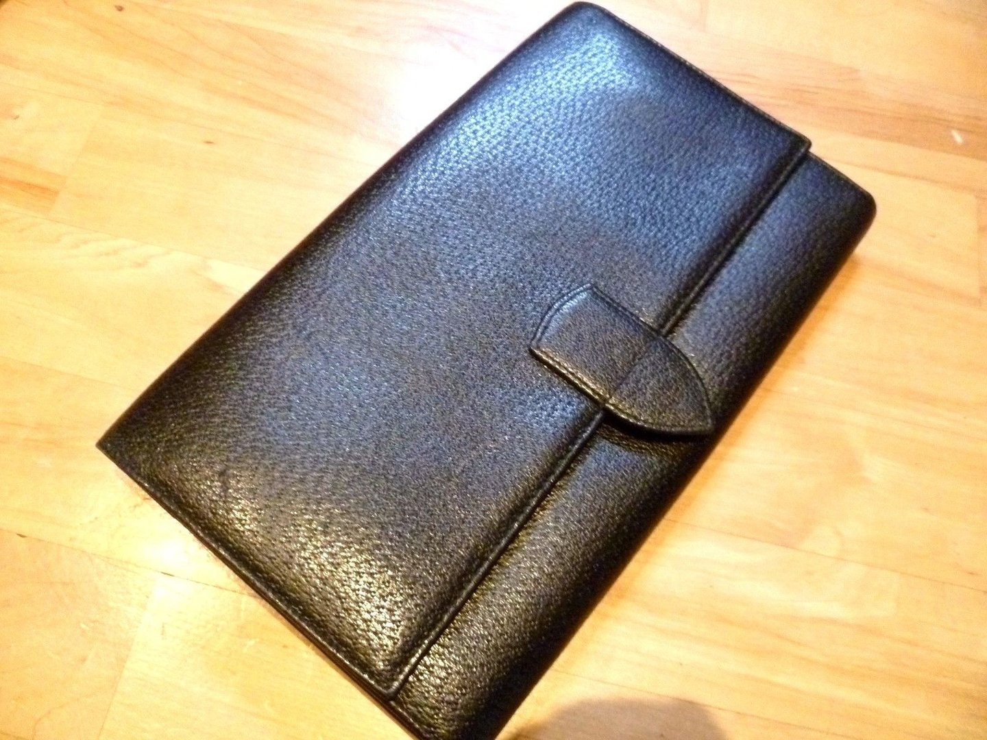 Smythson Leather Travel Wallet. Passport, Currency, Silver Blockin, quality used