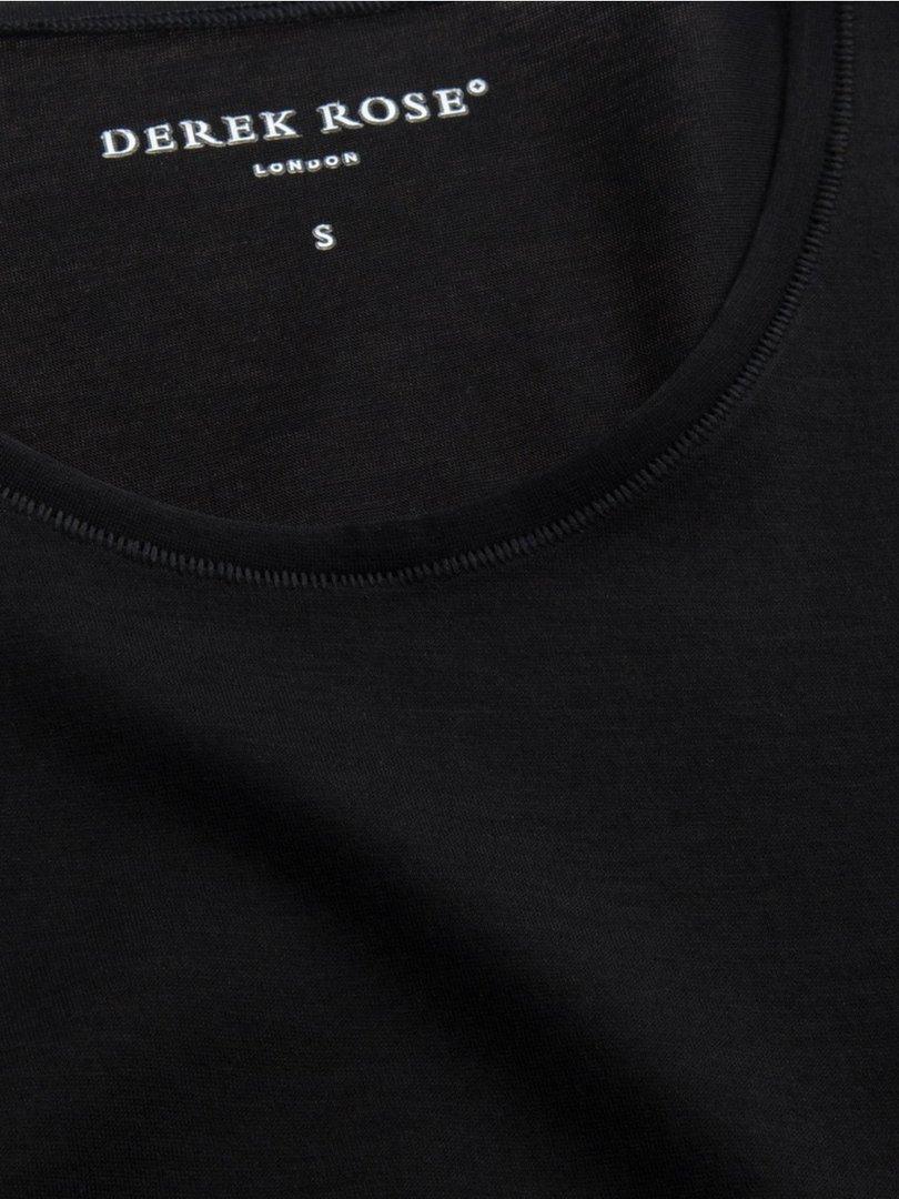 598542bf0 ... Men s Underwear Crew-Neck T-Shirt Jack PIMA Cotton Stretch Black Derek  ...