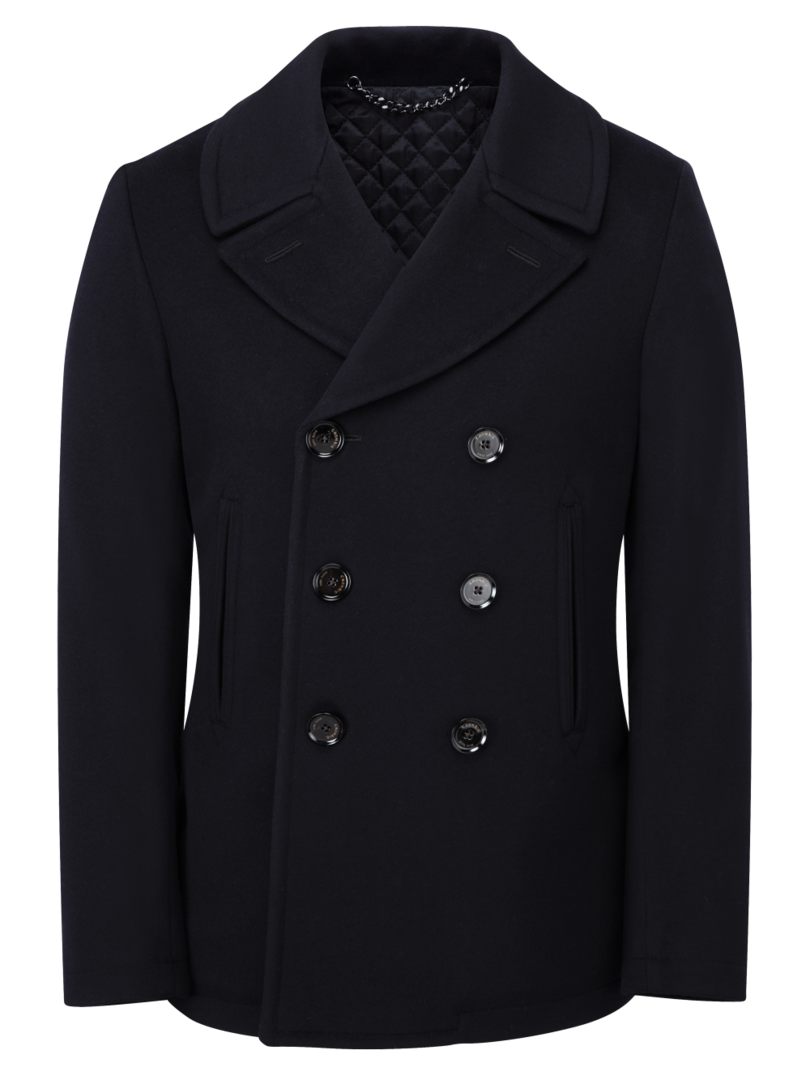 Pure Wool Navy Peacoat, Crombie - final pieces