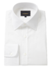 Pure cotton white herringbone classic collar single cuff shirt, Crombie