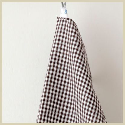 linen kitchen cloth brown white check, fog linen