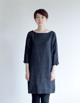 josef T shirts black chambray fog linen - deadstock