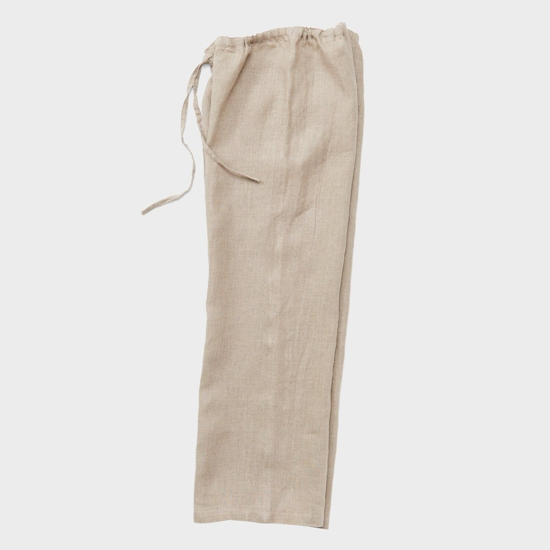 oise draw-string pants: natural - fog linen