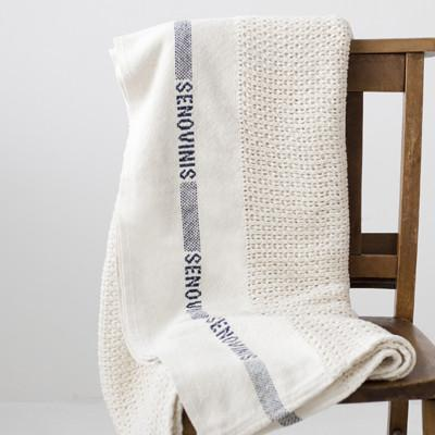 knitted cotton blanket fog linen work