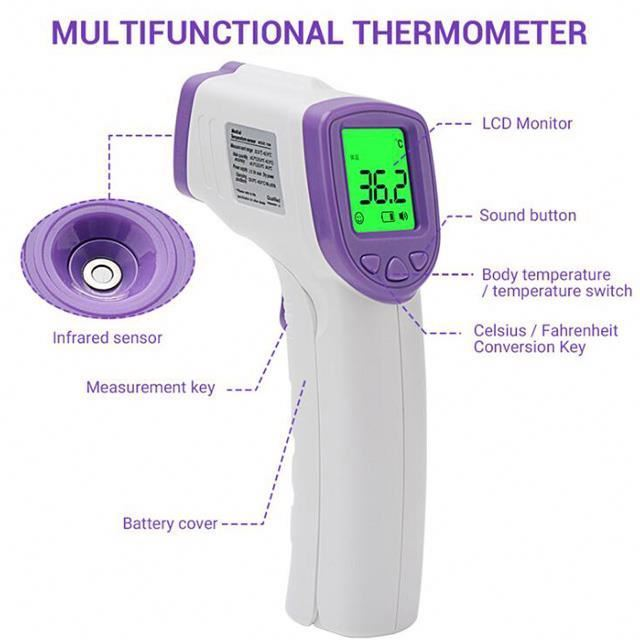 Medical Adult Digital Baby Thermometer Forehead